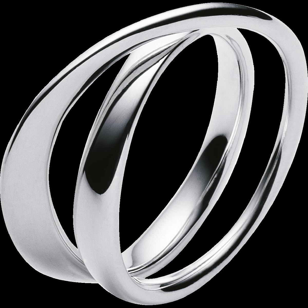 Μοντέρνο ασημένιο δαχτυλίδι