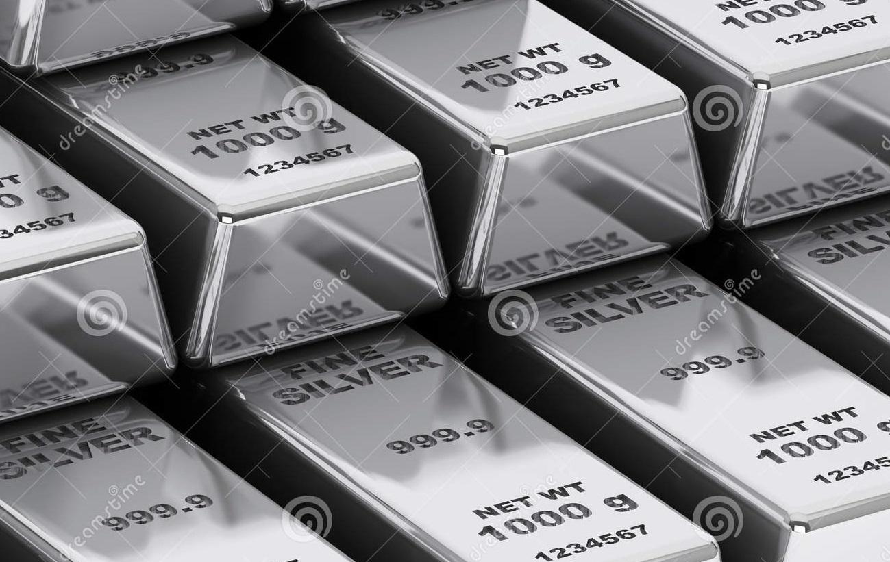 Αγορά με πλάκες ασημιού