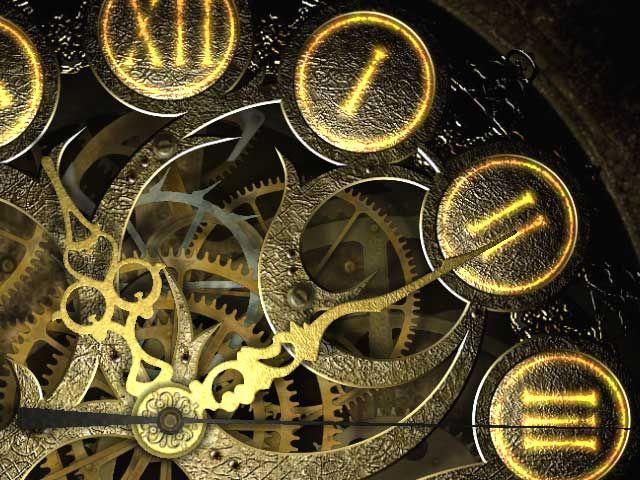 μηχανισμός από χρυσό ρολόι