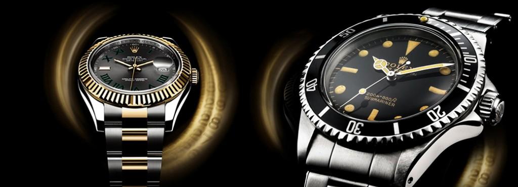 ρολόγια rolex & cartie σε μαύρο φόντο